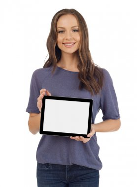 Woman with a digital tablet