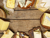 Fotografia vari tipi di formaggio