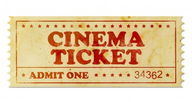 Cinema vintage ticket