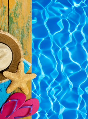 Holiday concept and water