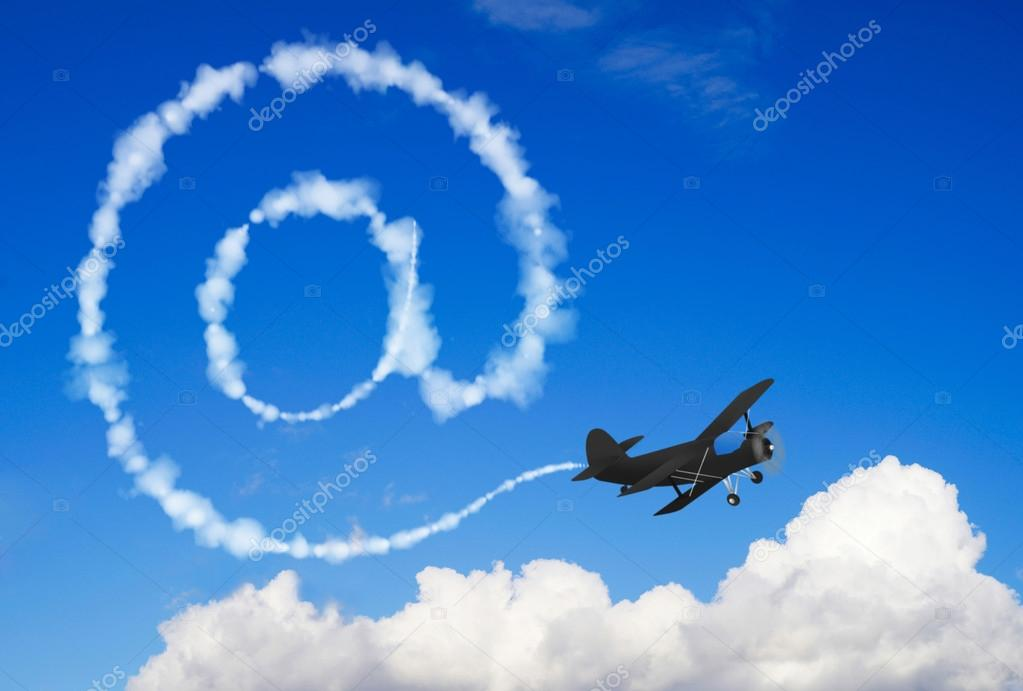 E-mail symbol in the sky