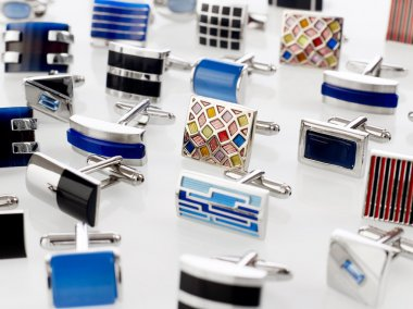 Cuff links on white