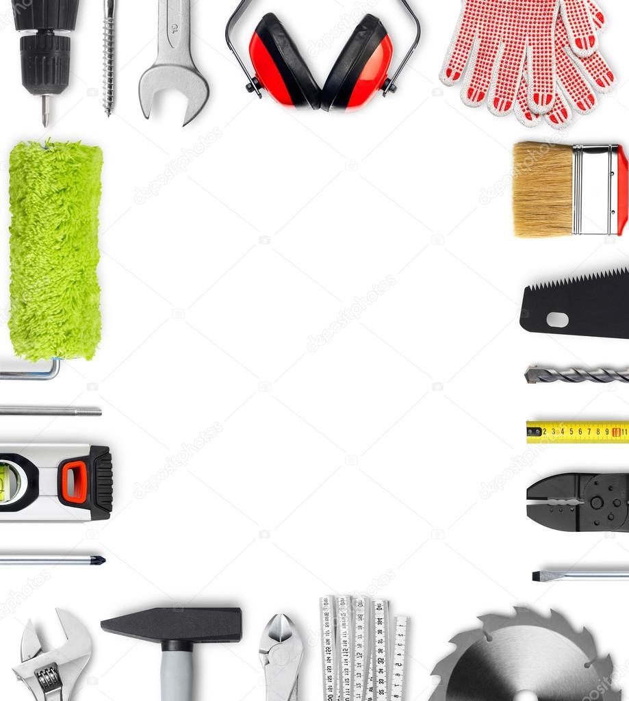 Marco de herramientas de trabajo — Foto de stock © Goir #103173816