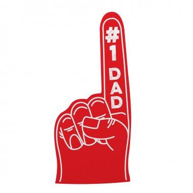 Number 1 dad foam hand