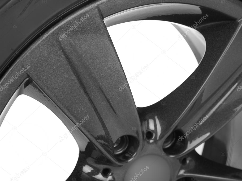 Car rim on white