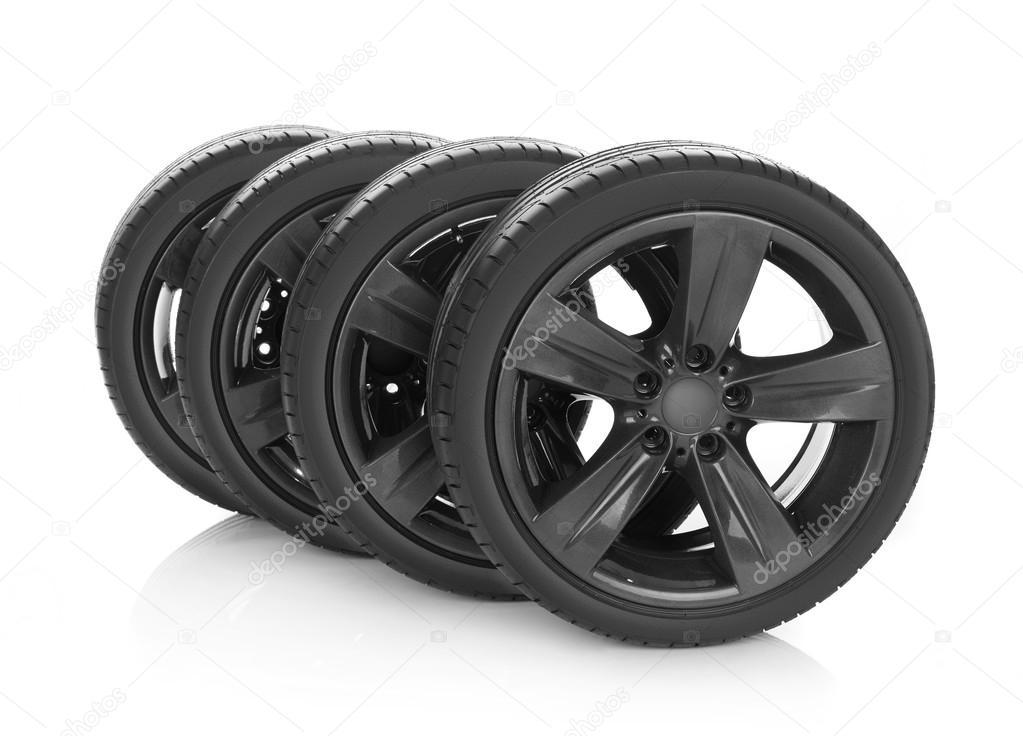 Sport tires on white