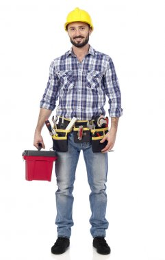 Carpenter with toolbox