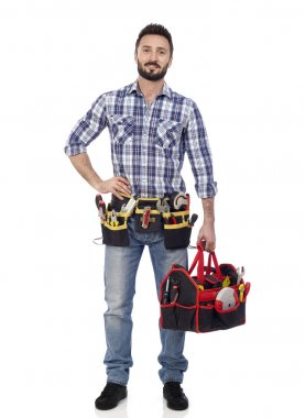 Handyman with toolbox