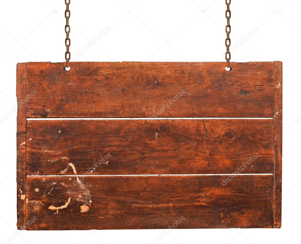 Wood plaque background