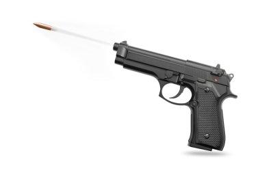 Handgun with bullet