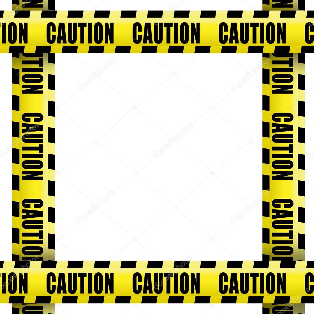 Marco de cinta de precaución — Foto de stock © Goir #104473578