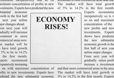 Economy rises ad