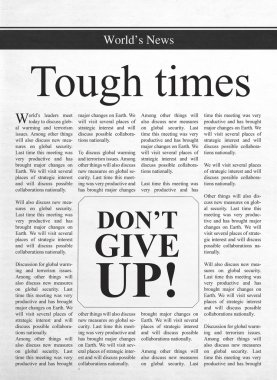 Tough times, don't give up