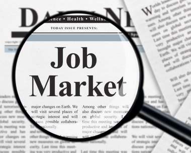 Job market on white