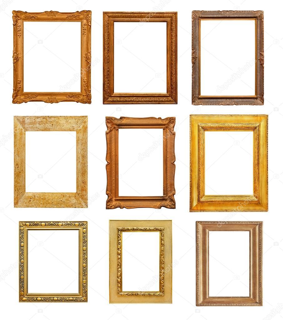 Vintage rectangular frames on white background — Stock Photo © Goir ...