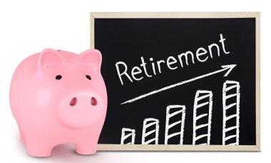 Retirement plan on white