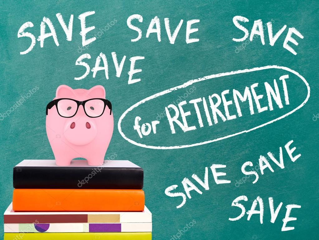 Tirelire Et économisez Pour Message De Retraite