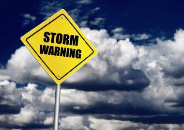 Storm warning road sign