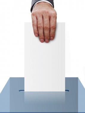 Vote concept on white