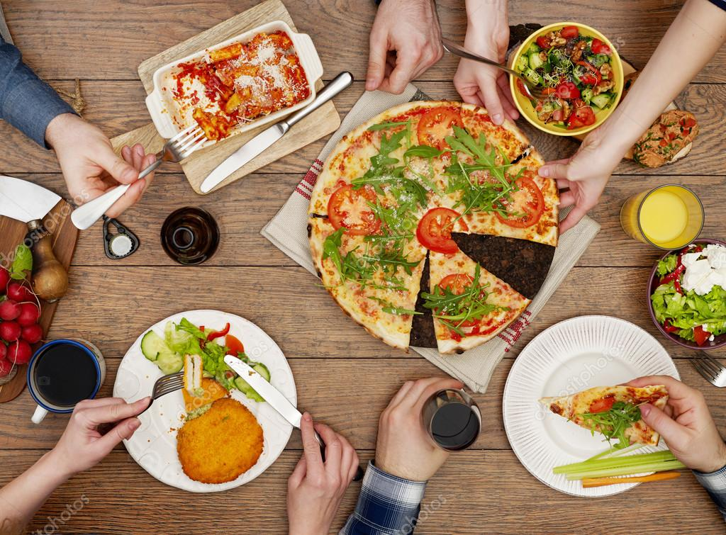Family Eating On The Table U2014 Stock Photo
