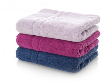 Towels stack on white