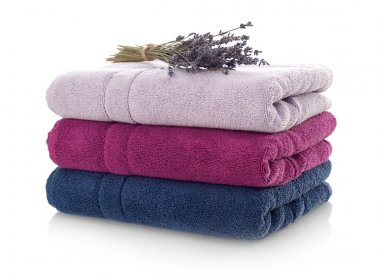 Clean towels and lavender