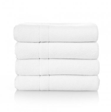 White towels on white