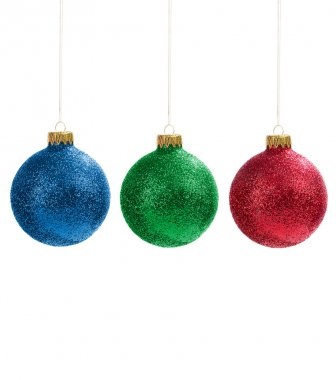 Christmas decorations on white background stock vector