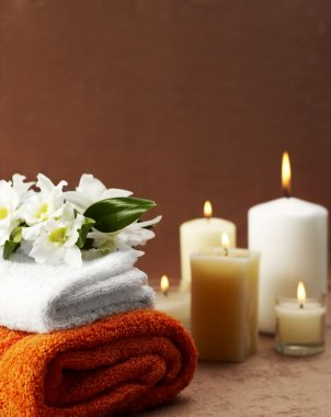 Spa treatment with copy space