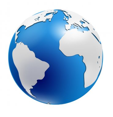 World globe isolated