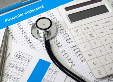 Financial statement and stethoscope