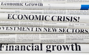 Financial newspapers headlines