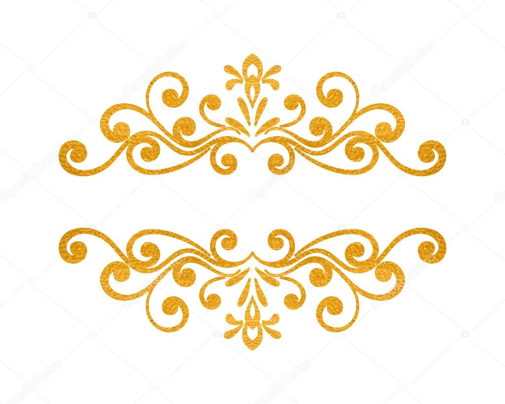 elegant luxury vintage gold floral border � stock vector