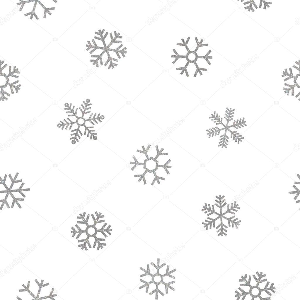 Copos de nieve de patrones sin fisuras de caer plata — Archivo ...