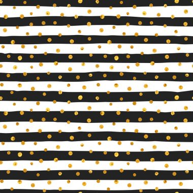 Seamless pattern of random gold dots.