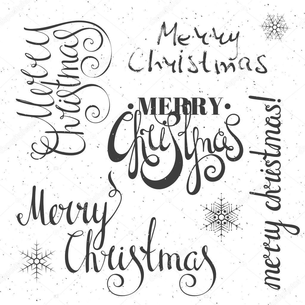 Frohe Weihnachten-Schrift-Design-Set — Stockvektor © ekmelica.gmail ...