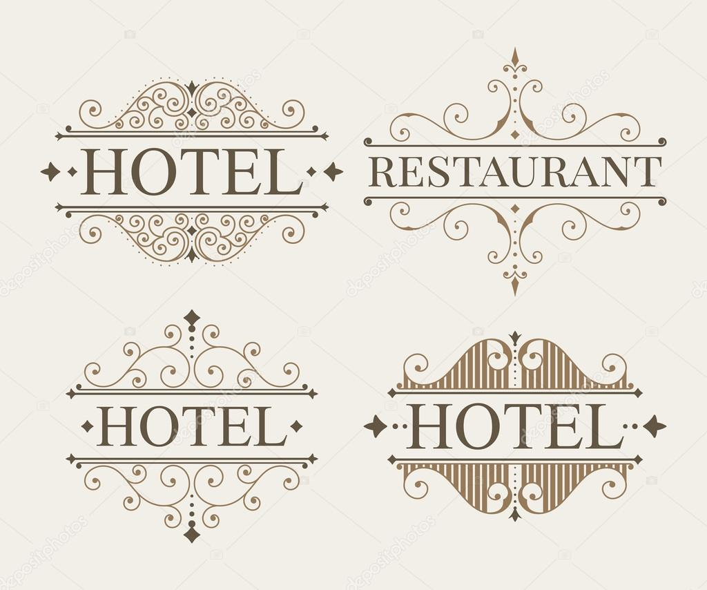 luxury logo and monogram template set stock vector ekmelica