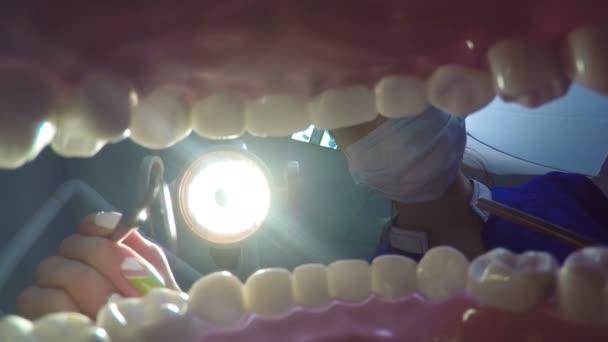 Treating teeth at the dentist