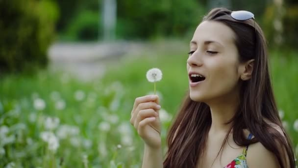 Atraktivní dívka na Pampeliška
