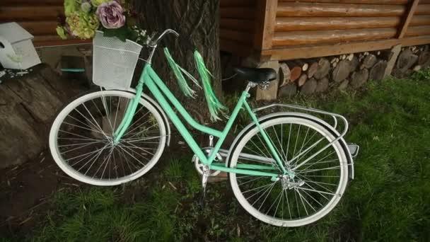 A stílusos dekoráció bicikli