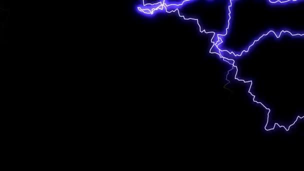 Chaotické blesků animace
