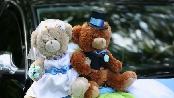 Medvědi na svatební auto