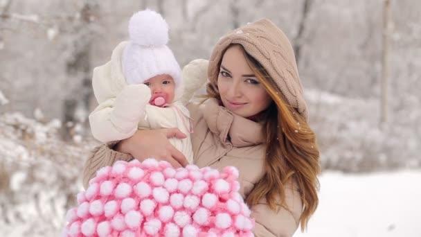 Porträt einer Mutter mit Baby