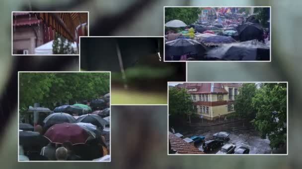 Composition of rainy frames
