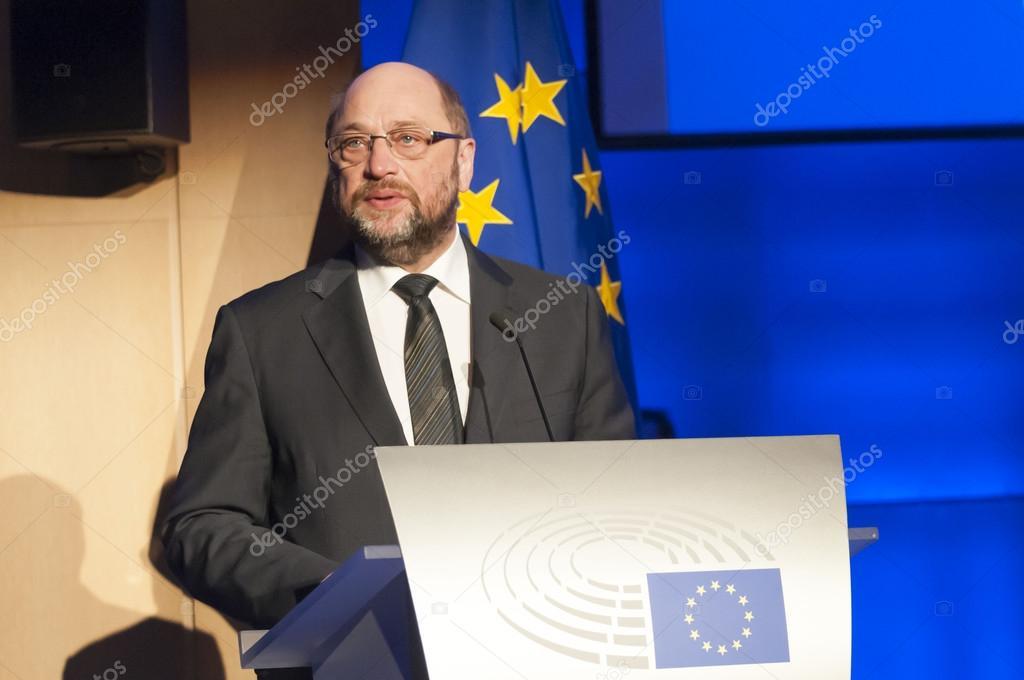 欧州議会のマルティン ・ シュル...