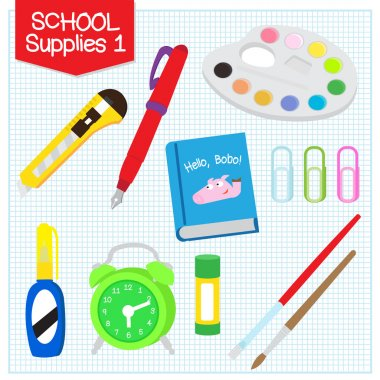 Picture of school supplies 1