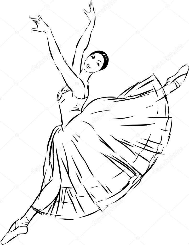 Ballet Dancer Sketch Stock Vector C Mubaister Gmail Com 90361436