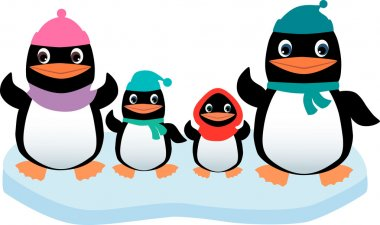 family of the funny penguins