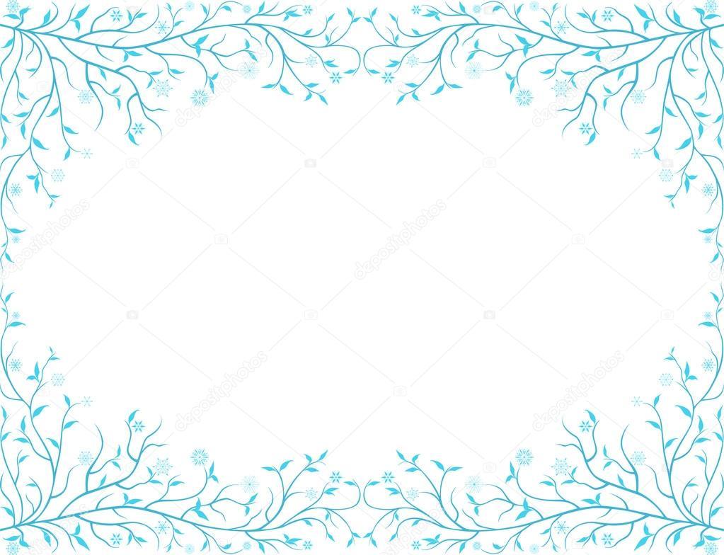 floral marco congelado — Archivo Imágenes Vectoriales © mubaister ...