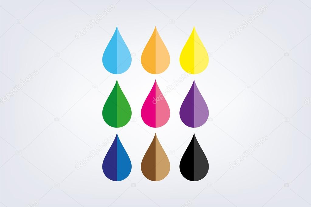 droplet set vector image